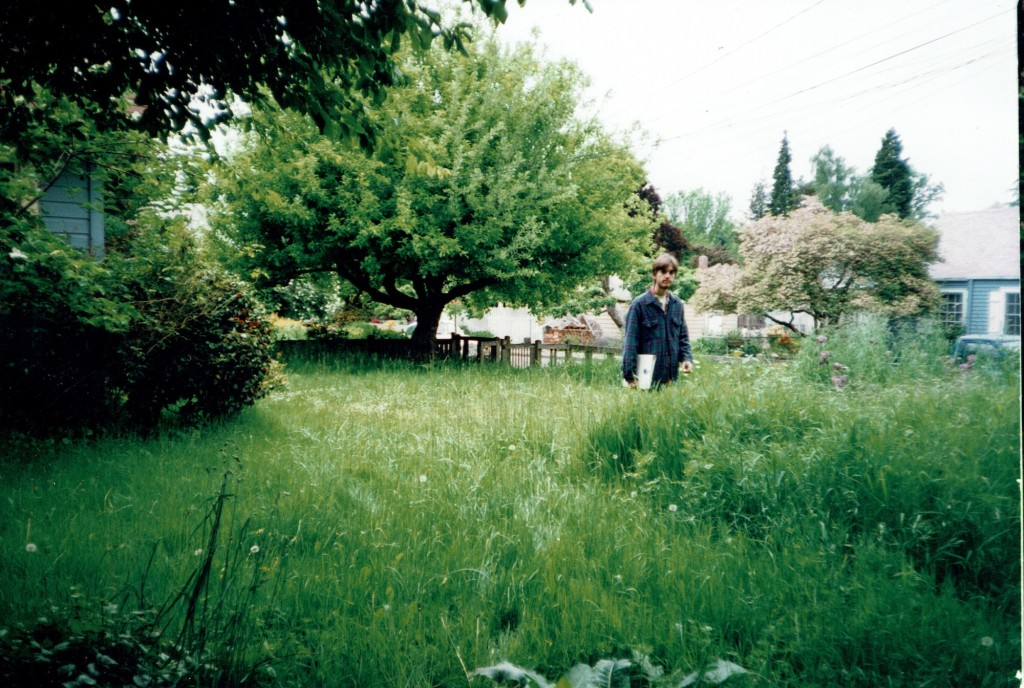 Early Eco Landscaping Meadow garden. Eugene, OR, 1999