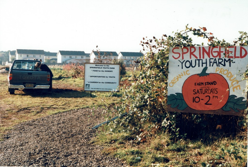 Internship at Springfield Youth Farm, Springfield, OR 1998